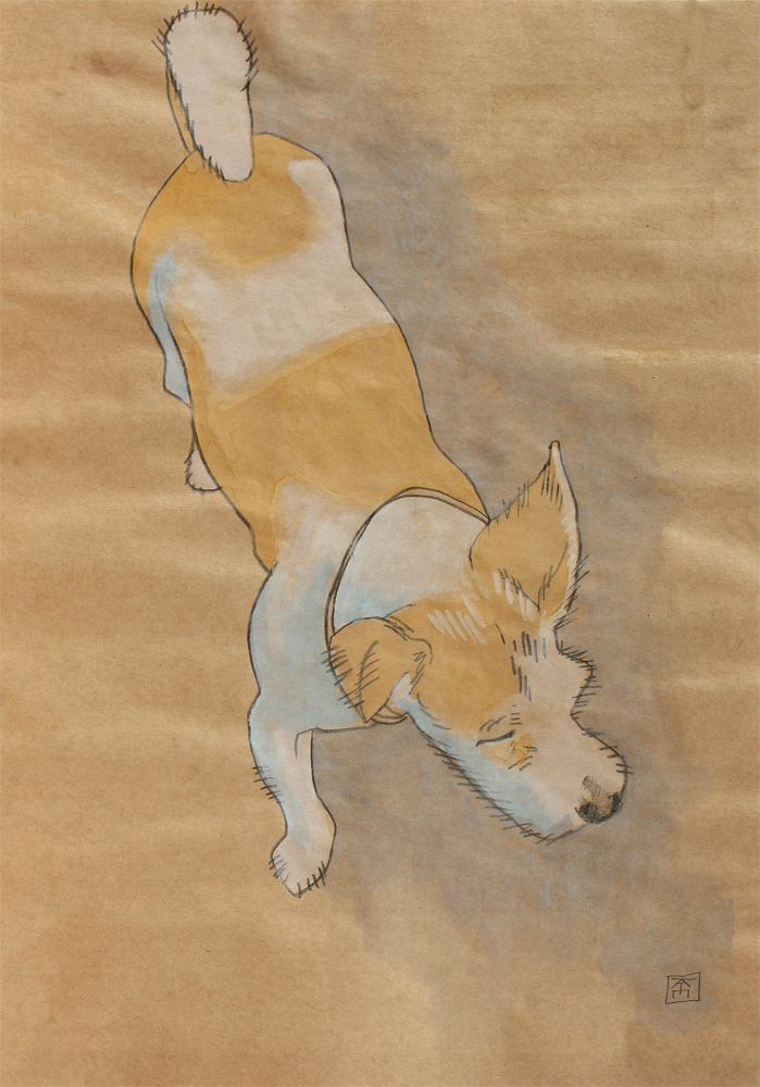 simple drawing of a terrier