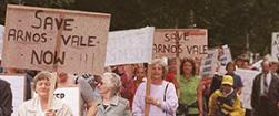 saving arnos vale image of protesters, bristol