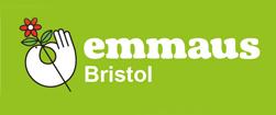 "logo: Emmaus Bristol ""working together to end homelessness"""