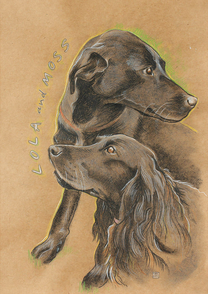 christmas gift, dogs, dog portrait, dog artist