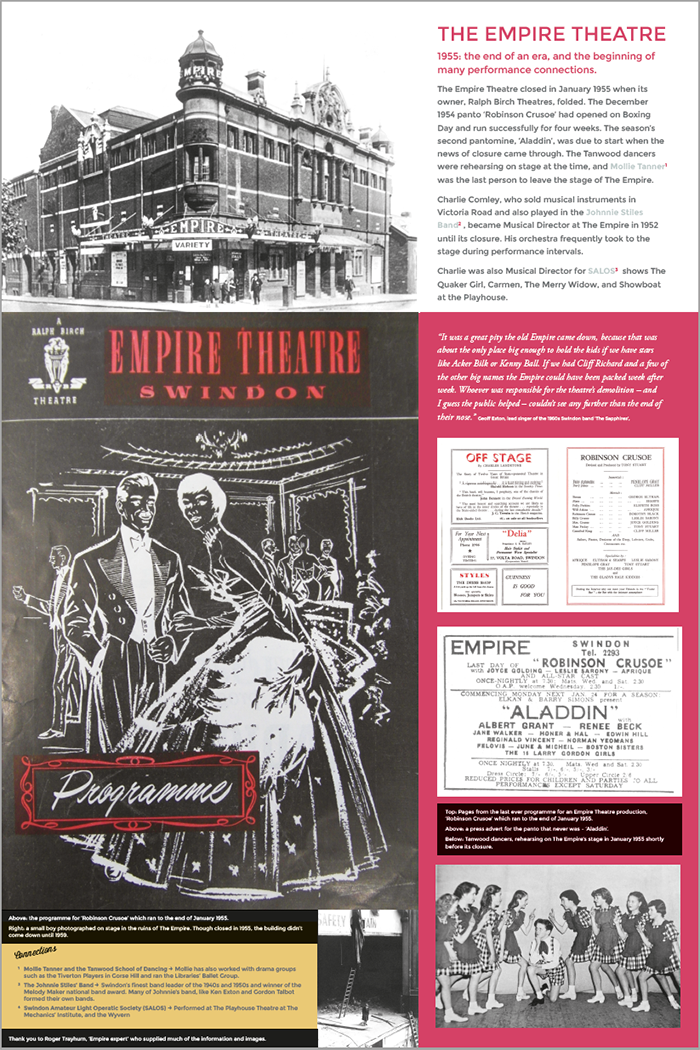 the empire theatre, swindon, museum, exhibition,history