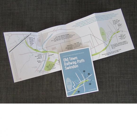 Old Town Railway Path pocket map (Swindon)
