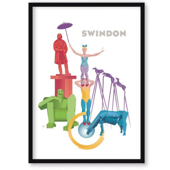 art print of Swindon – statues