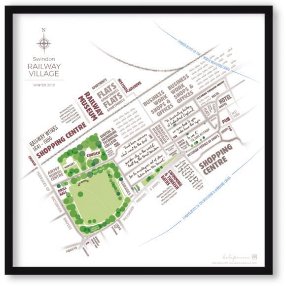 typographic map of Swindon Railway Village