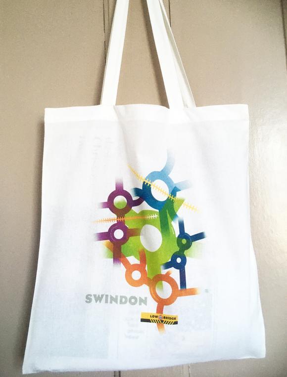 Swindon roundabouts – cotton totel/shopping bag