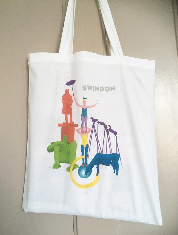 Swindon statues cotton tote/shopping bag
