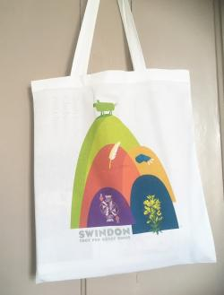 Swindon Hills cotton tote / shopping bag